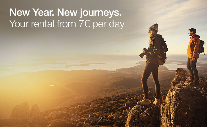 New Year. New journeys. Your rental from 7€ per day