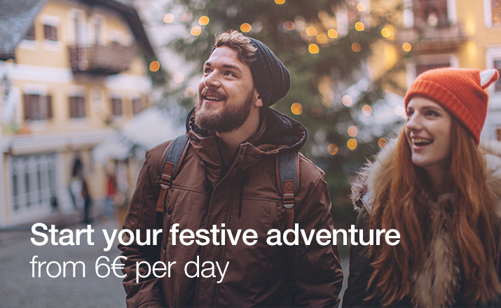 Start your festive adventure from 6€ per day